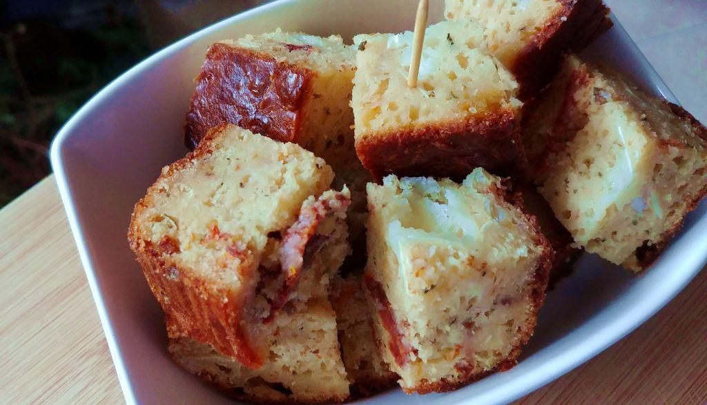 cake apero dinatoire chevre tomates sechees