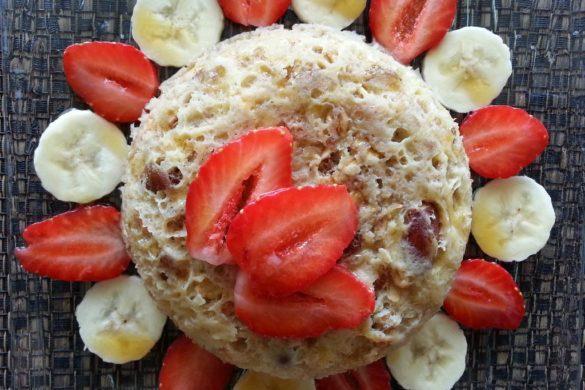 bowl cake avoine muesli banane fraise erable