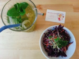 laureline's corner lyon rue romarin salade et thé glacé