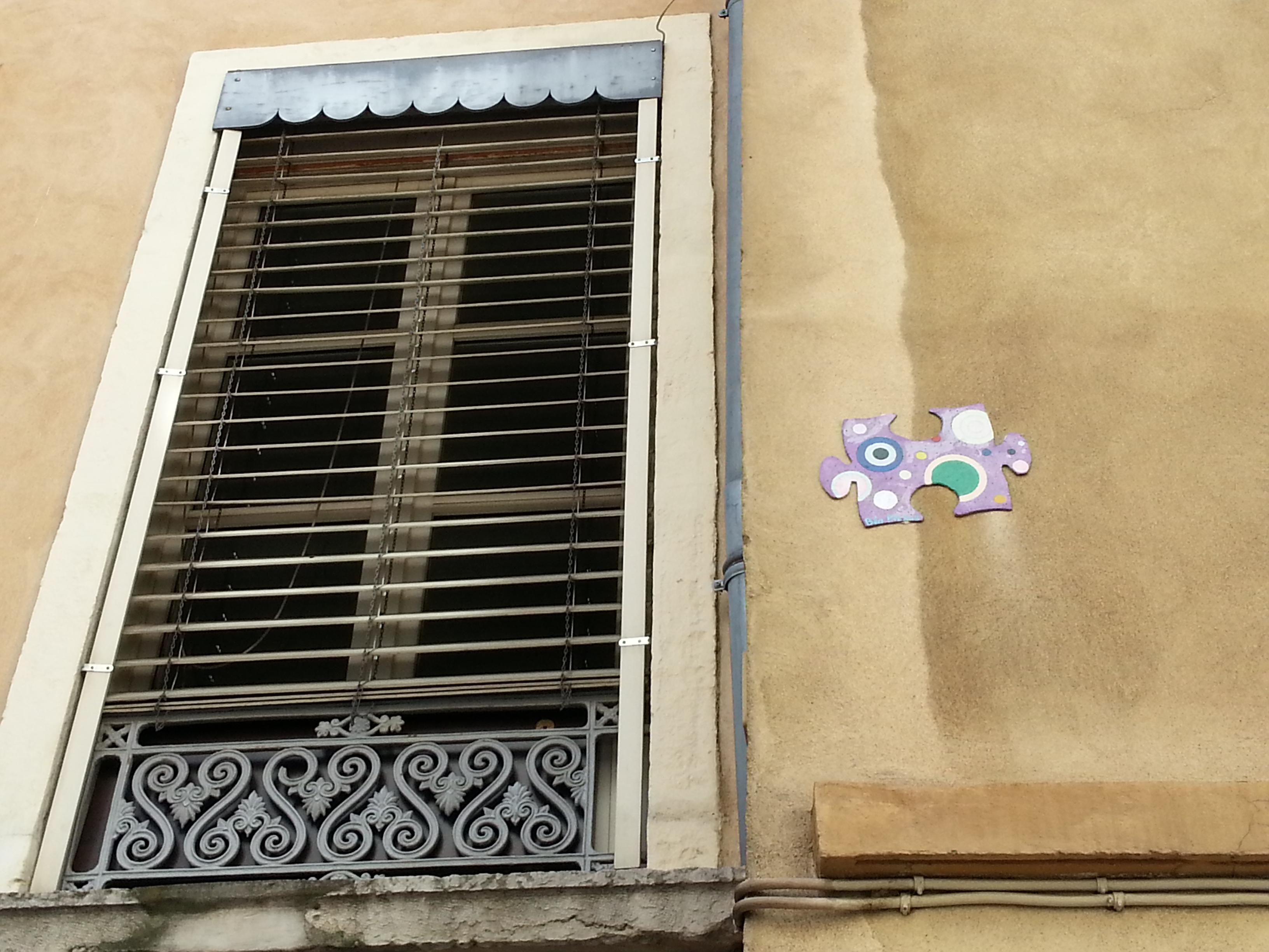 street art pentes croix rousse lyon 16 puzzle