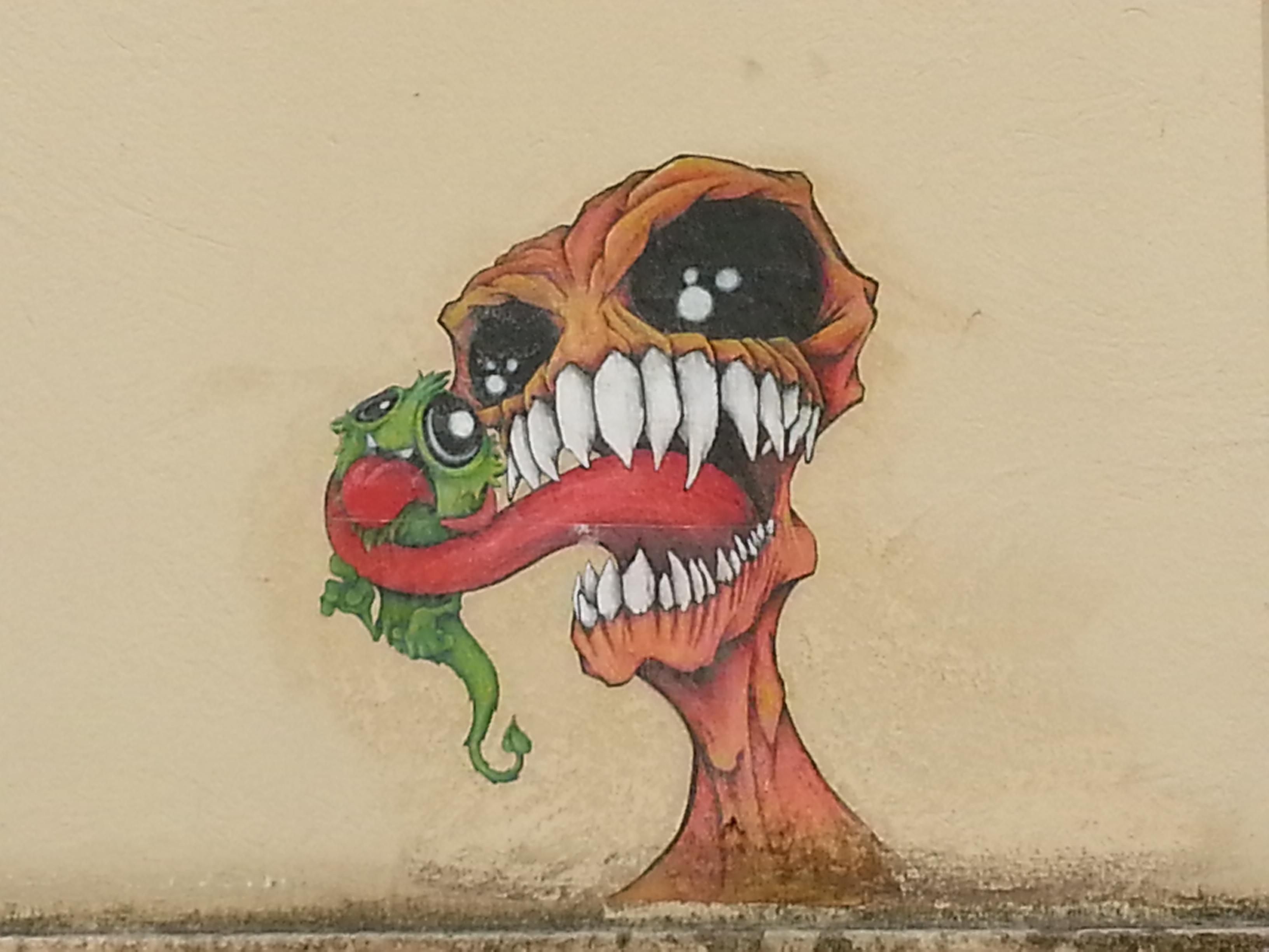 street art pentes croix rousse lyon 29 monsters
