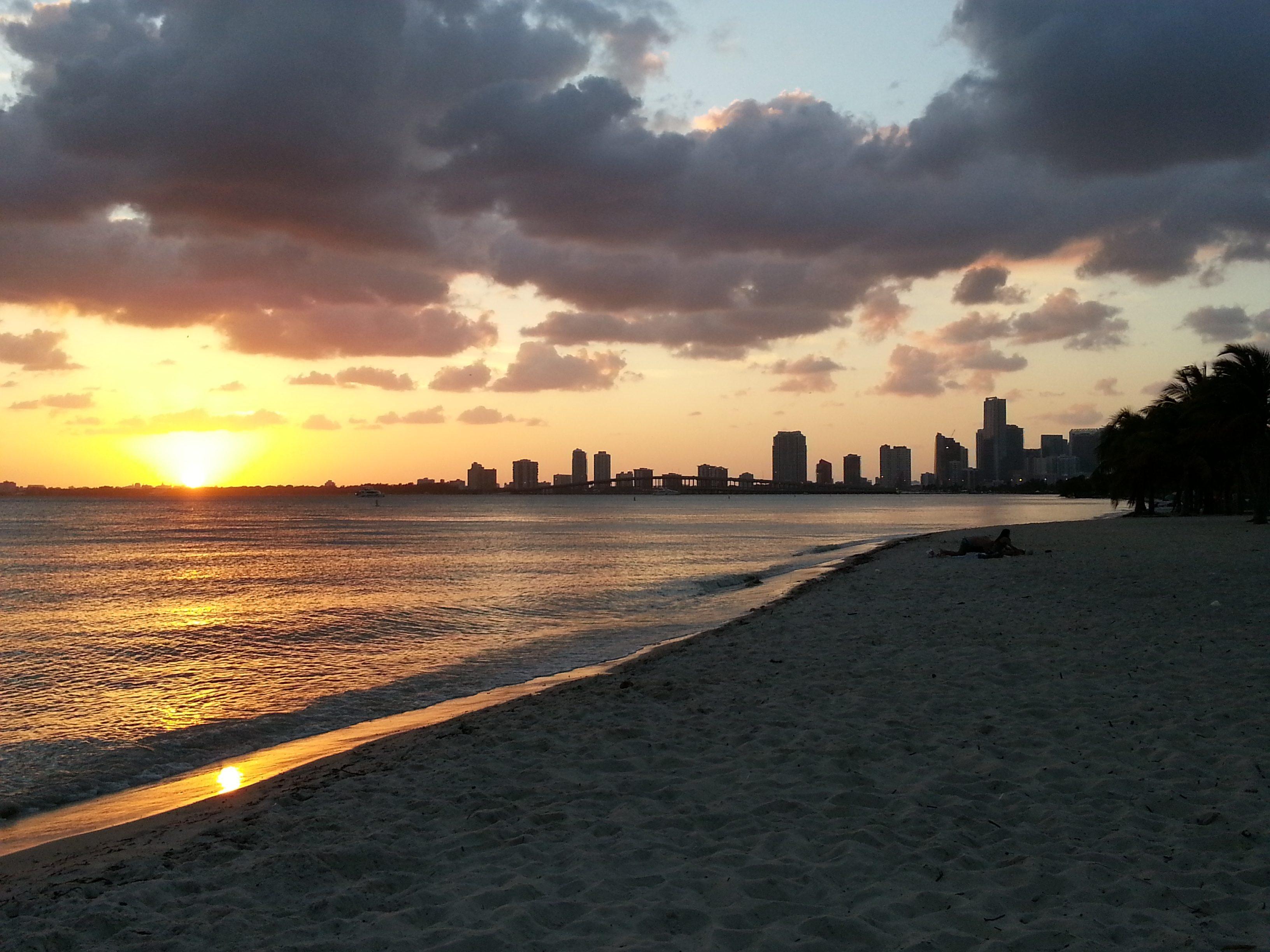 sunset coucher de soleil key biscayne miami