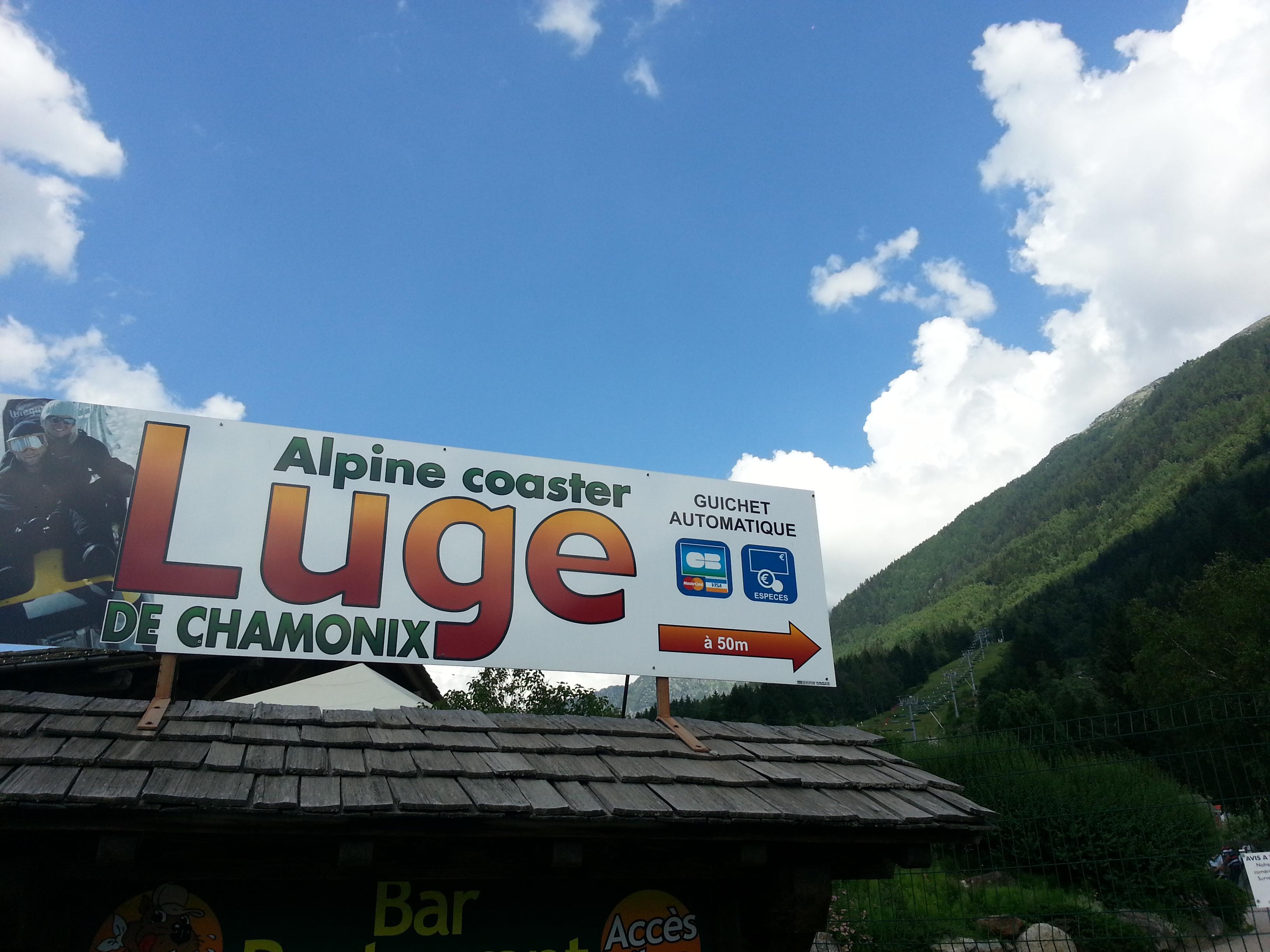 alpine coaster luge d'ete chamonix mont blanc