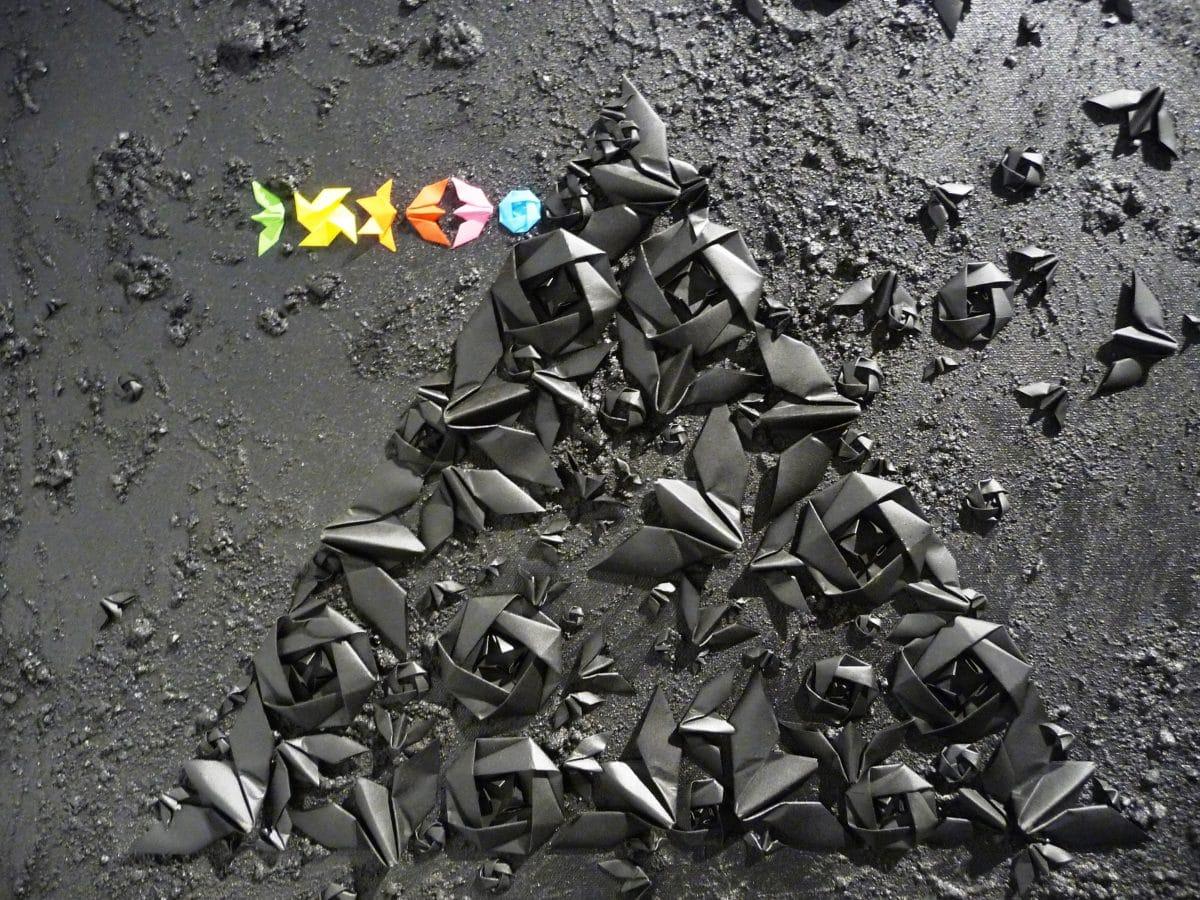 origami street art éphémère malakoff la réserve