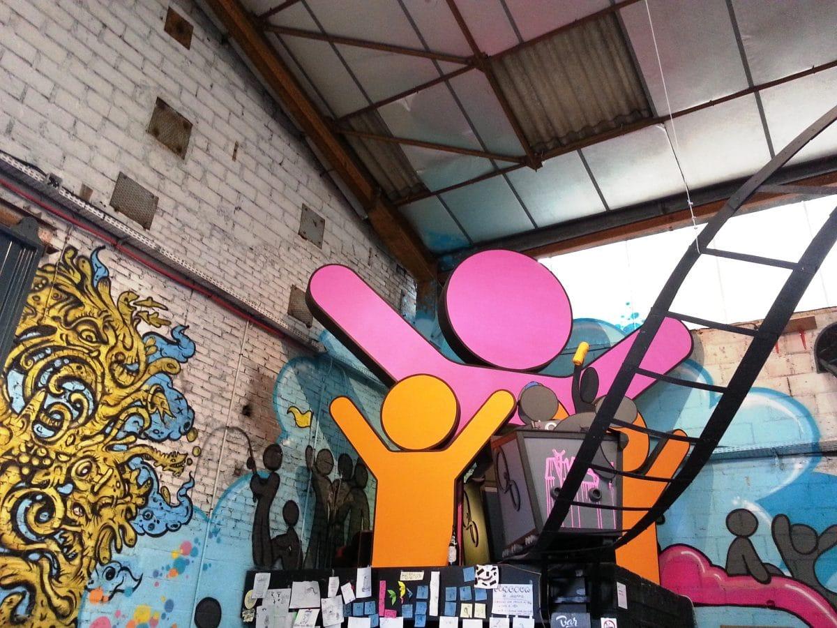 street art bar le monde des rails Jibé la réserve malakoff