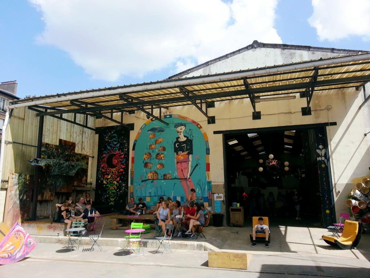 street art entrée hangar la réserve malakoff