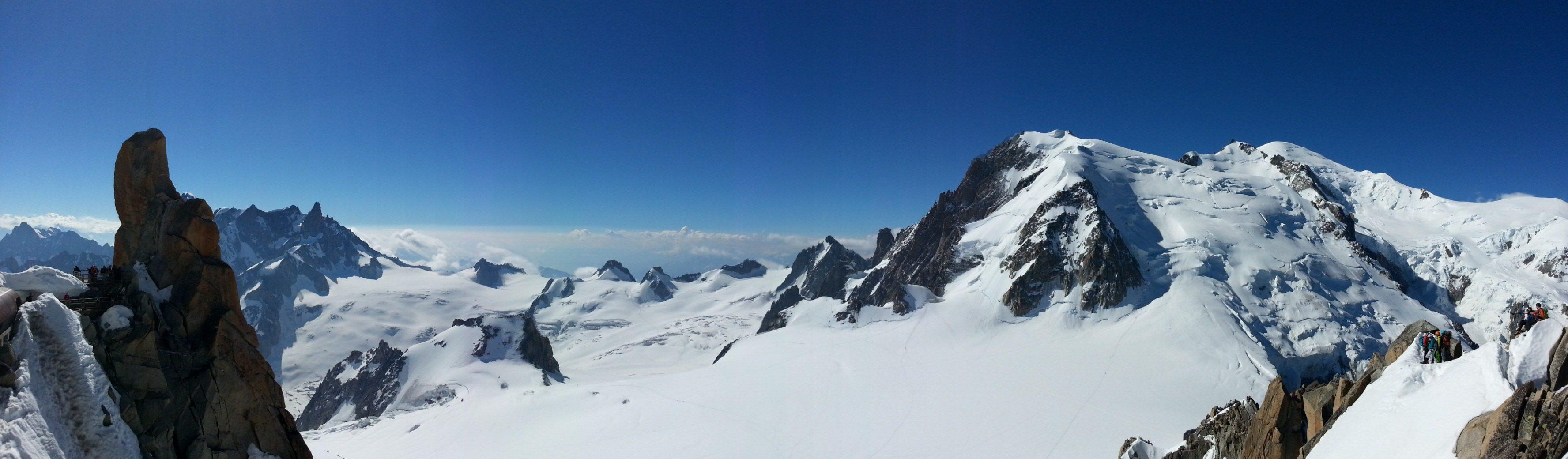 vue panoramique mont blanc pic du midi