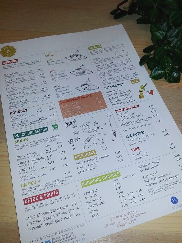 burger&wells menu