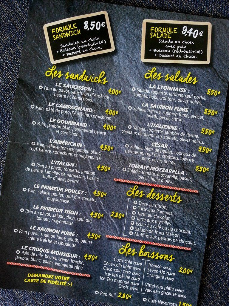 le petit benjamin menu sandwich salade produits artisanaux food lyon