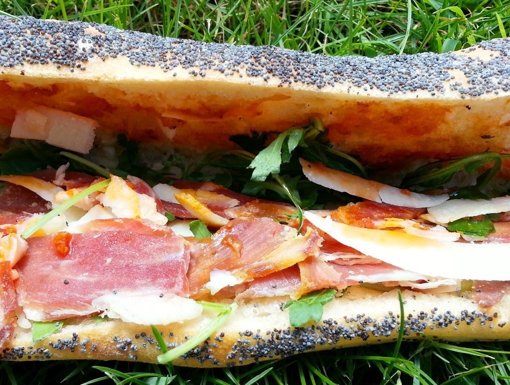 sandwich italien parmesan roquette jambon italien le petit benjamin