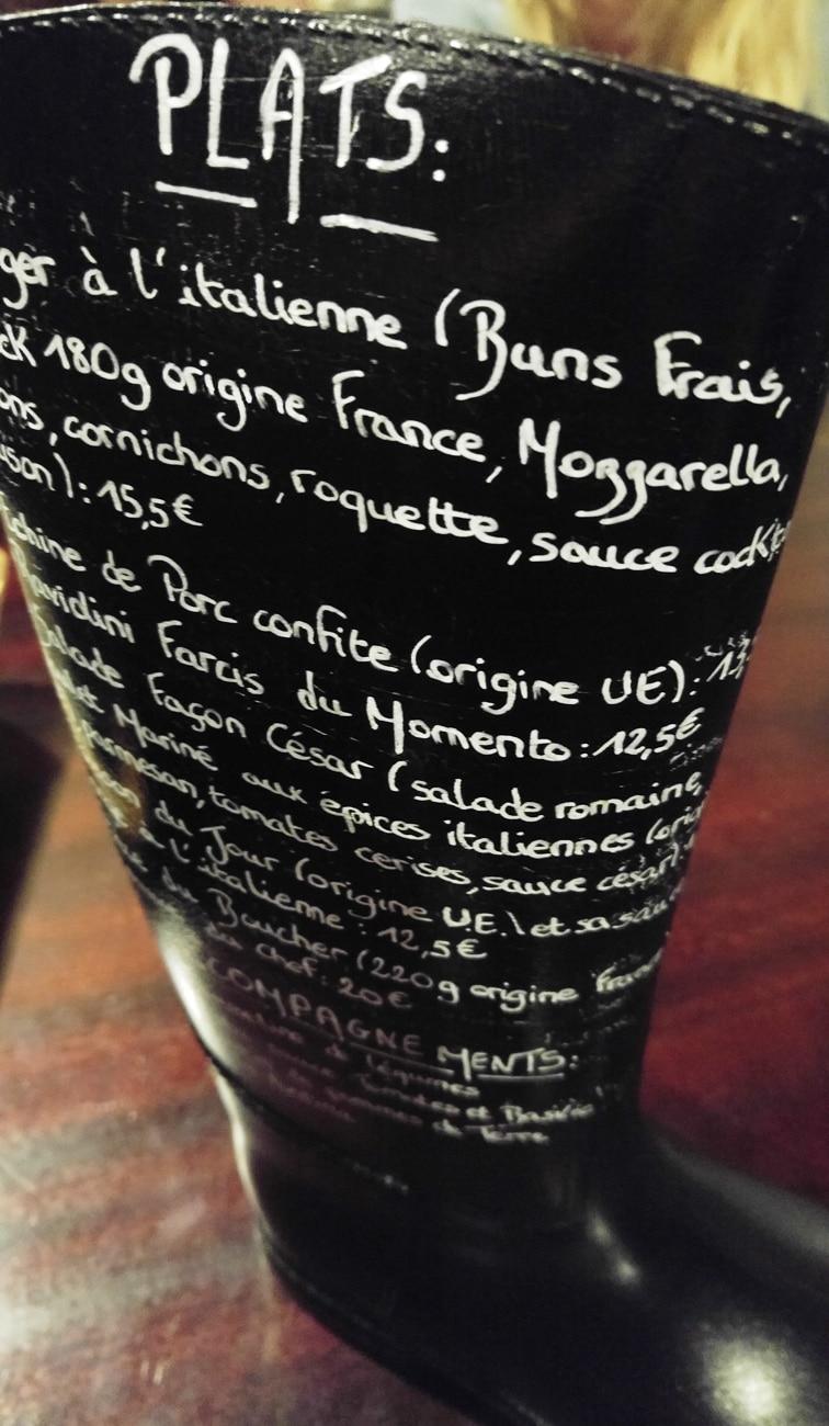 bistrot de la botte bar vin tapas italien