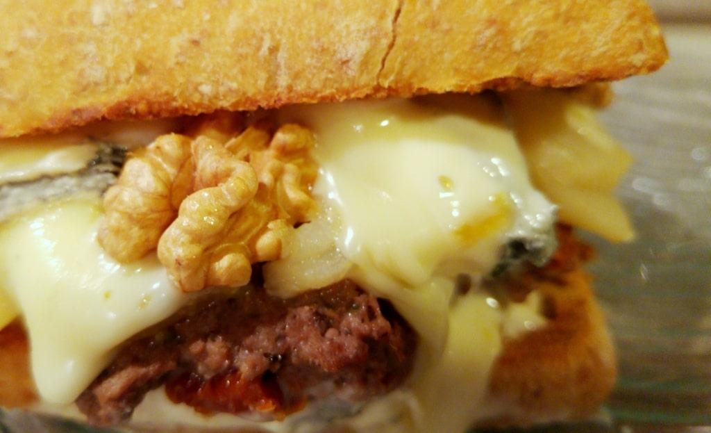 burger recette charolais noix bleu poire