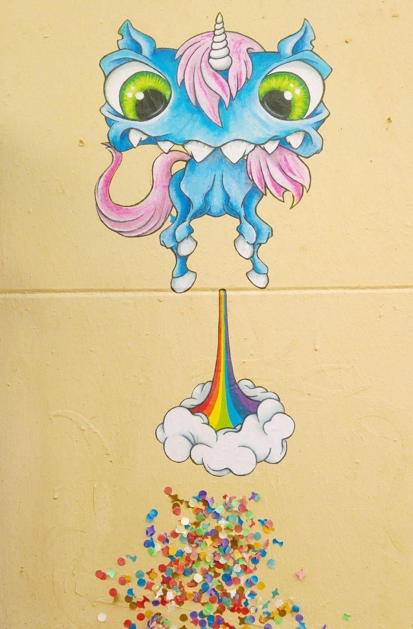 cap phi street art croix rousse monstre