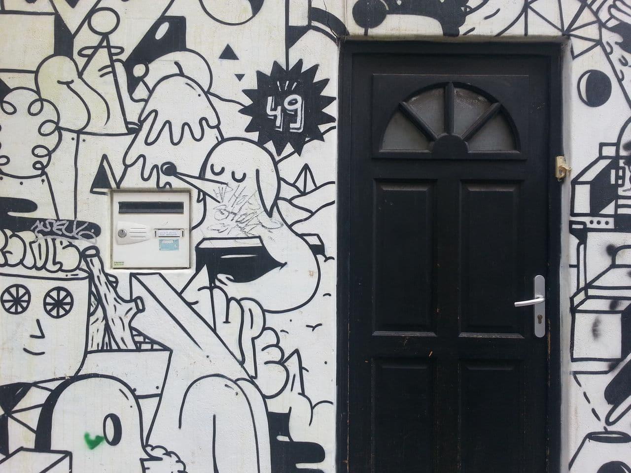 croix rousse street art maison graffiti