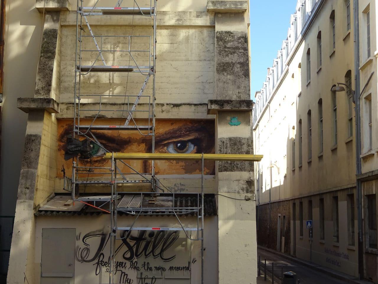 david bowie rue neyret lyon street art