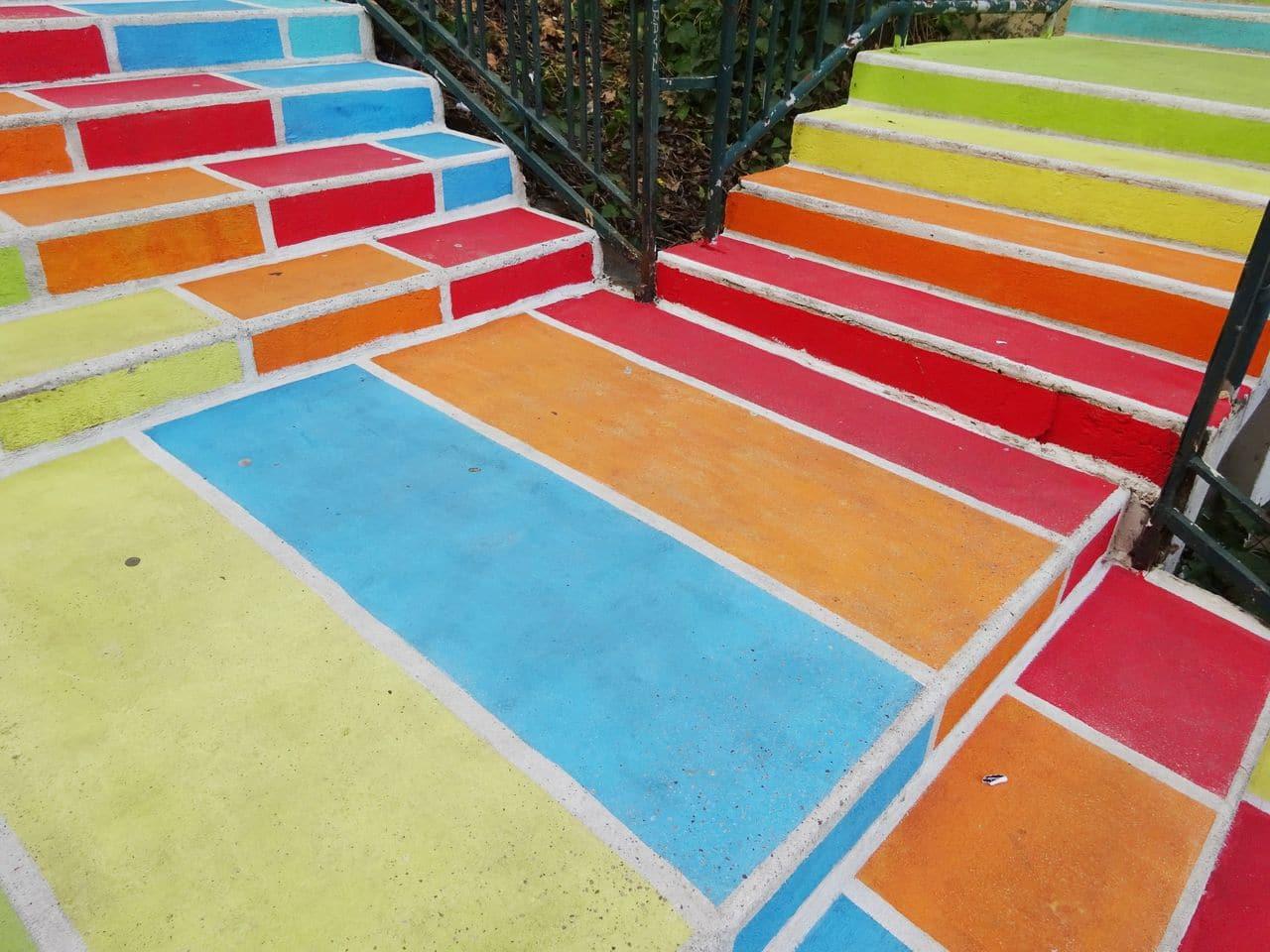 escalier de couleurs lyon street art