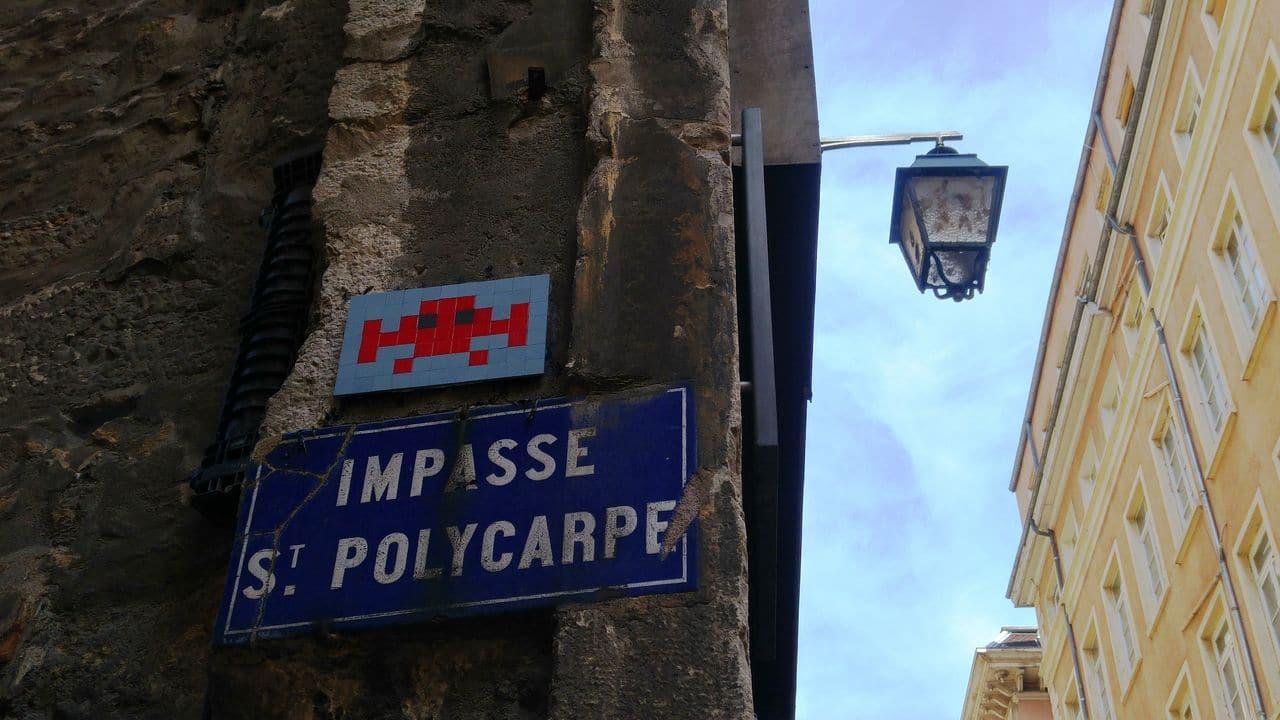 invader impasse st polycarpe art de rue lyon
