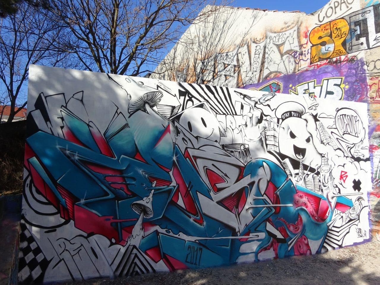 parc sutter street art croix rousse lyon