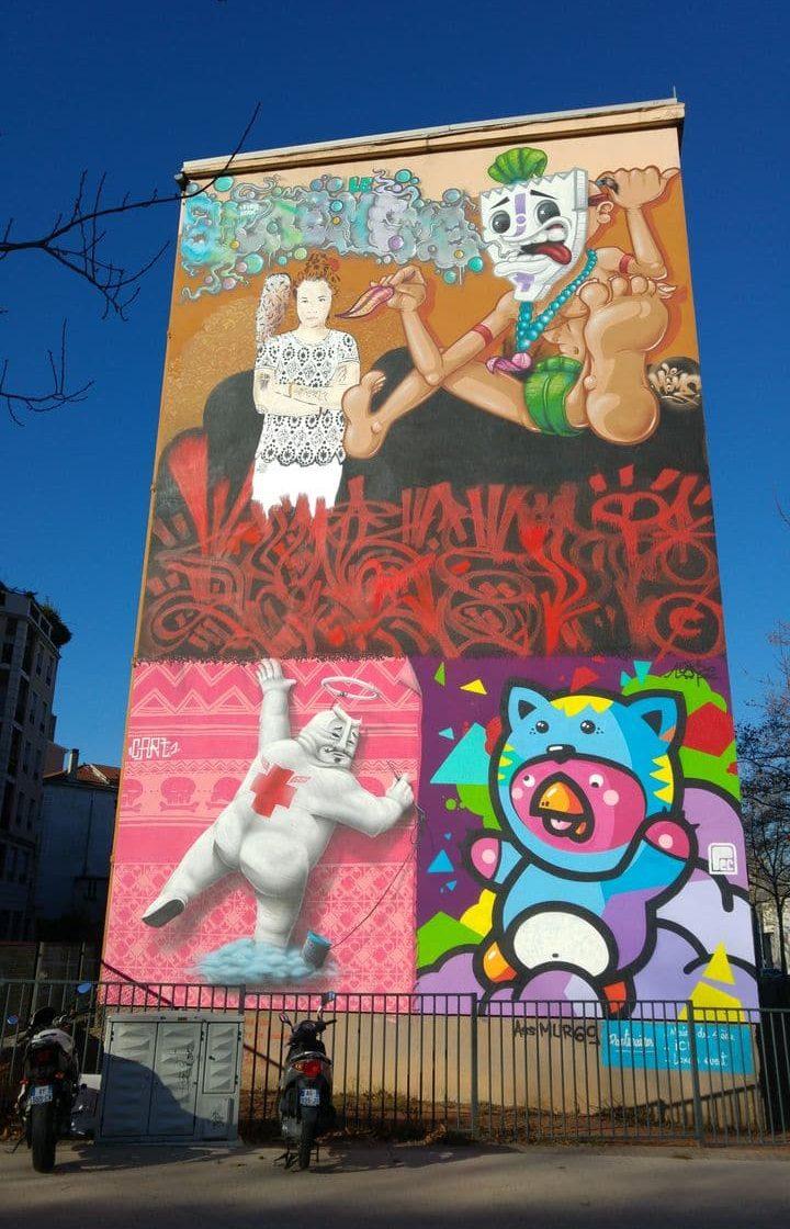 street art tour dans les pentes de la croix rousse happycurio. Black Bedroom Furniture Sets. Home Design Ideas