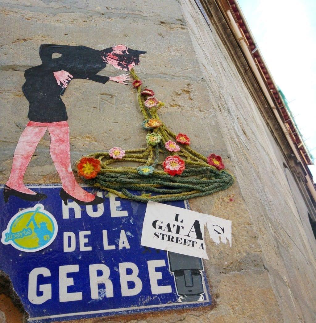 rue de la gerbe street art las gatas chat