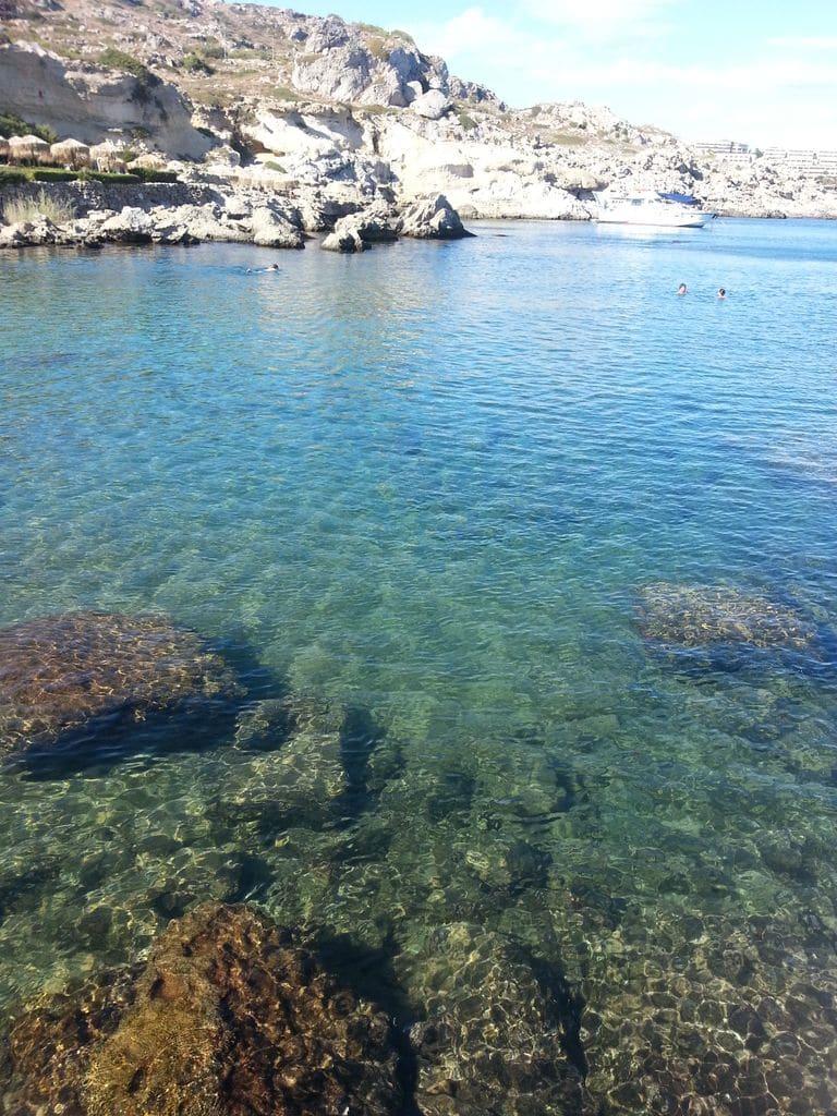 kallithea eau transparente snorkeling