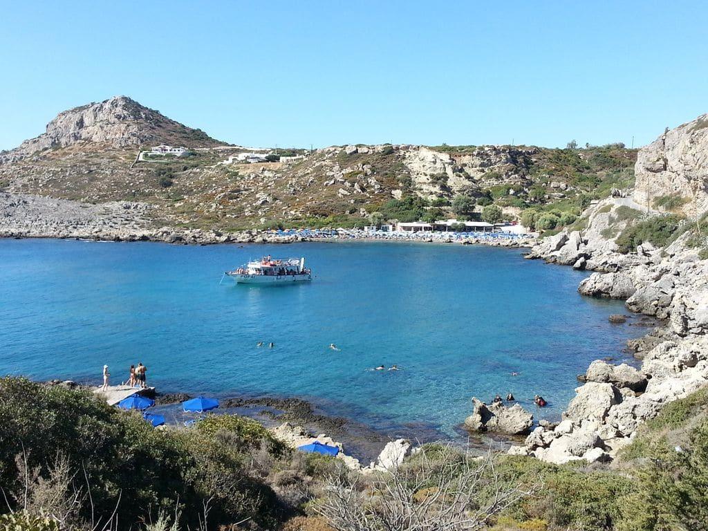 où se baigner a rhodes ladiko beach
