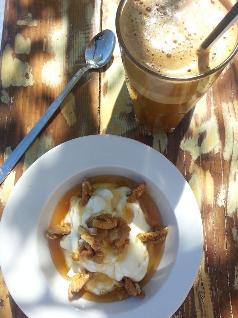 tsati yaourt grec cafe frappe