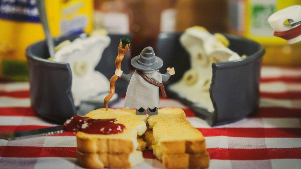 happycurio samsofy lego seigneur des anneaux tartine lyon miniature