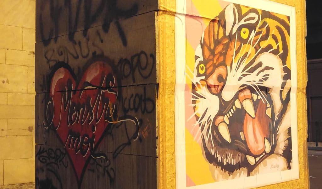 happycurio tigre rauky monstre moi lyon street art