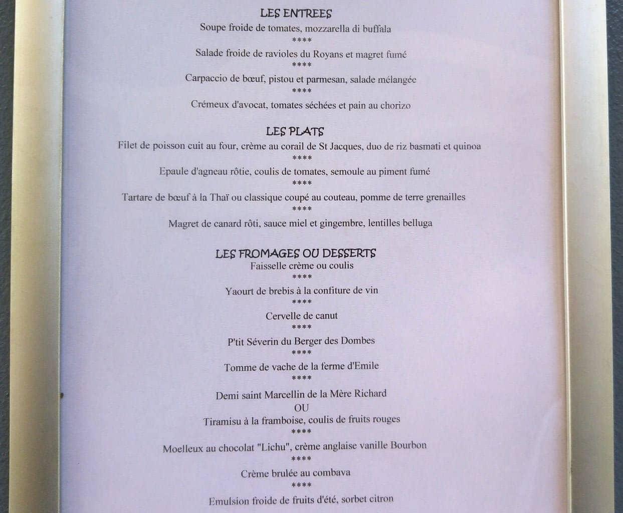 happycurio menu saveurs du bistrot cuisine de marché 2017