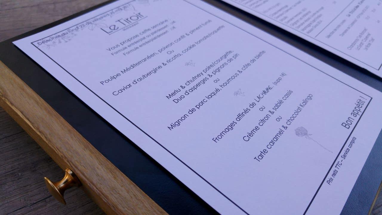 happycurio le tiroir restaurant menu