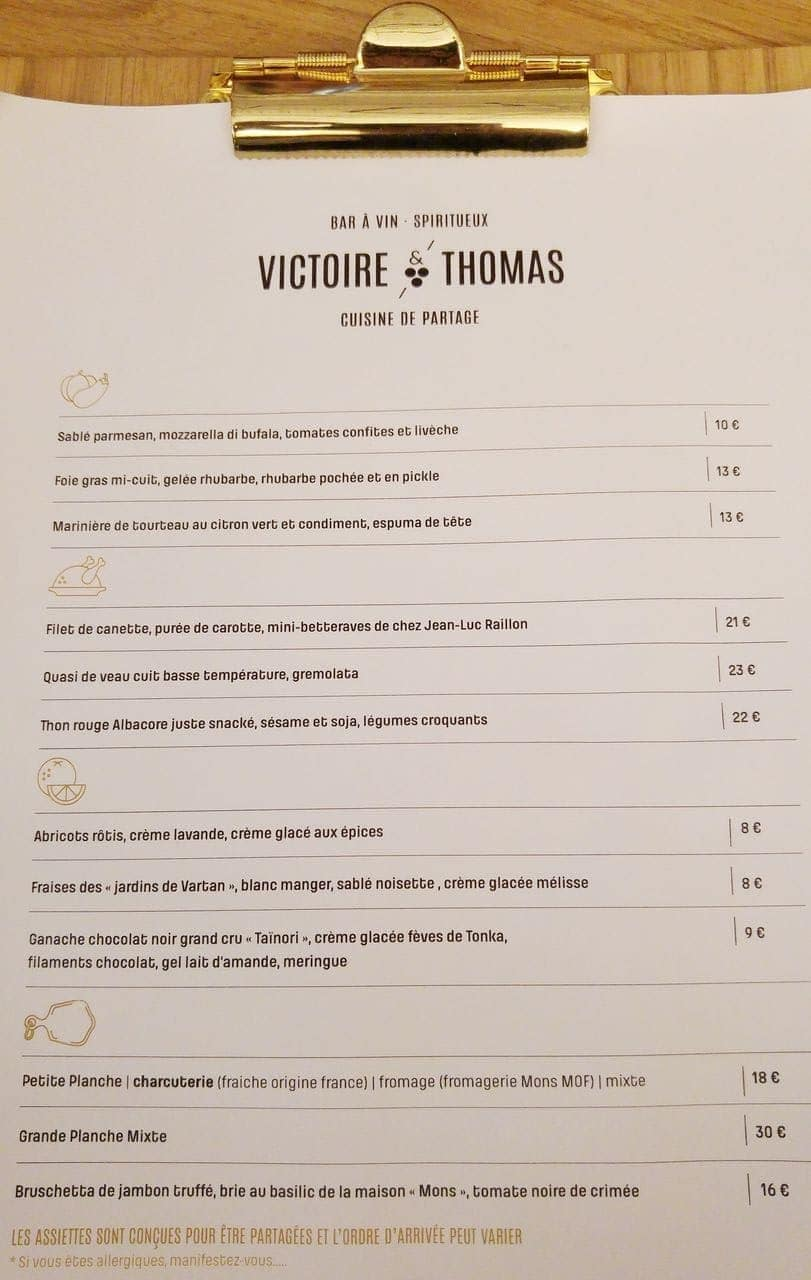victoire et thomas menu lyon prix