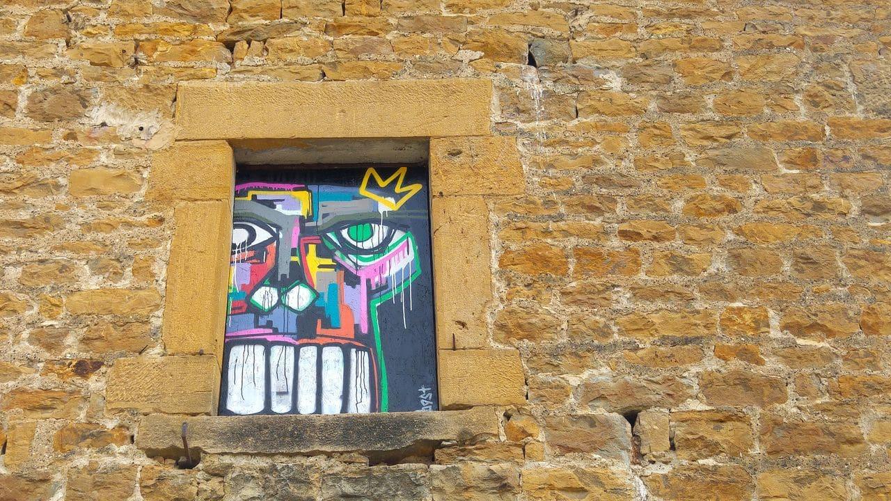 mausa skull expression street art bast