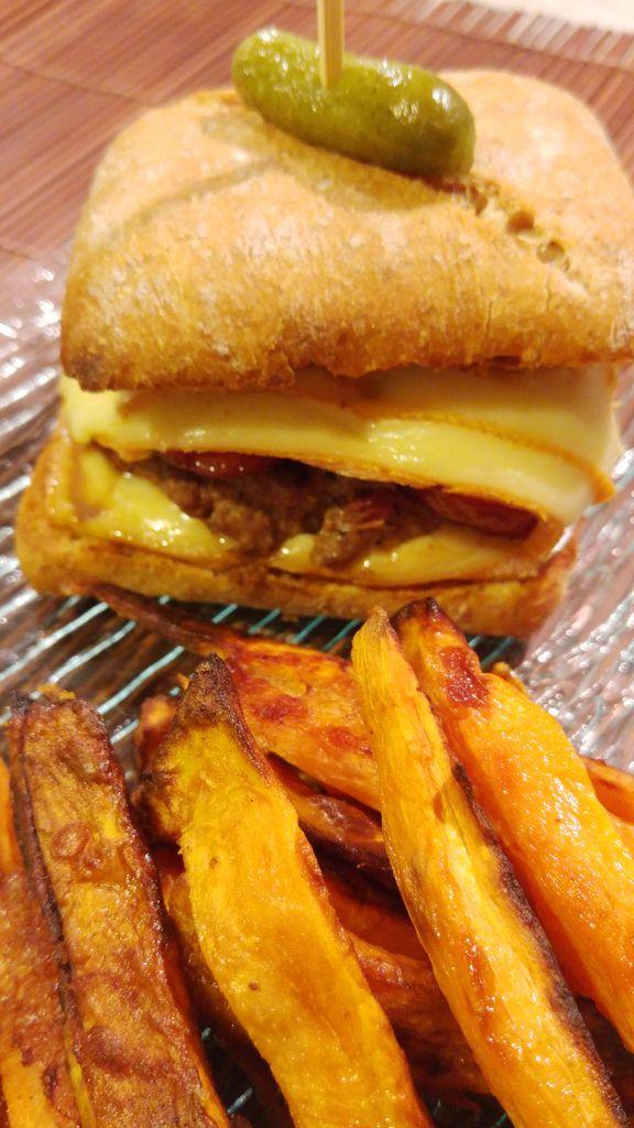 happycurio frites de patate douce au four et burger de savoie recette cuisine