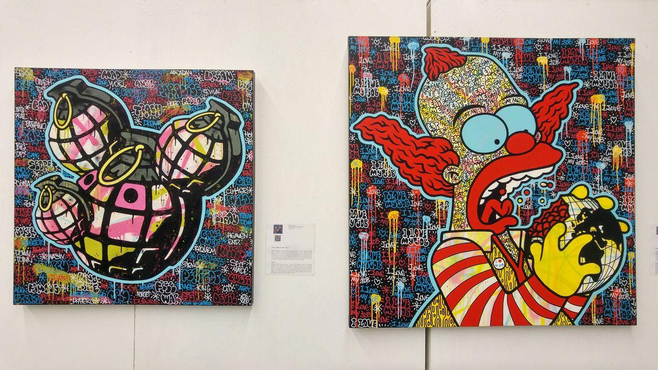 happycurio aerosol street art clown speedy graphito expo