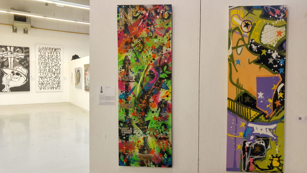 happycurio art rue graphe toile acrylique vinyle paris