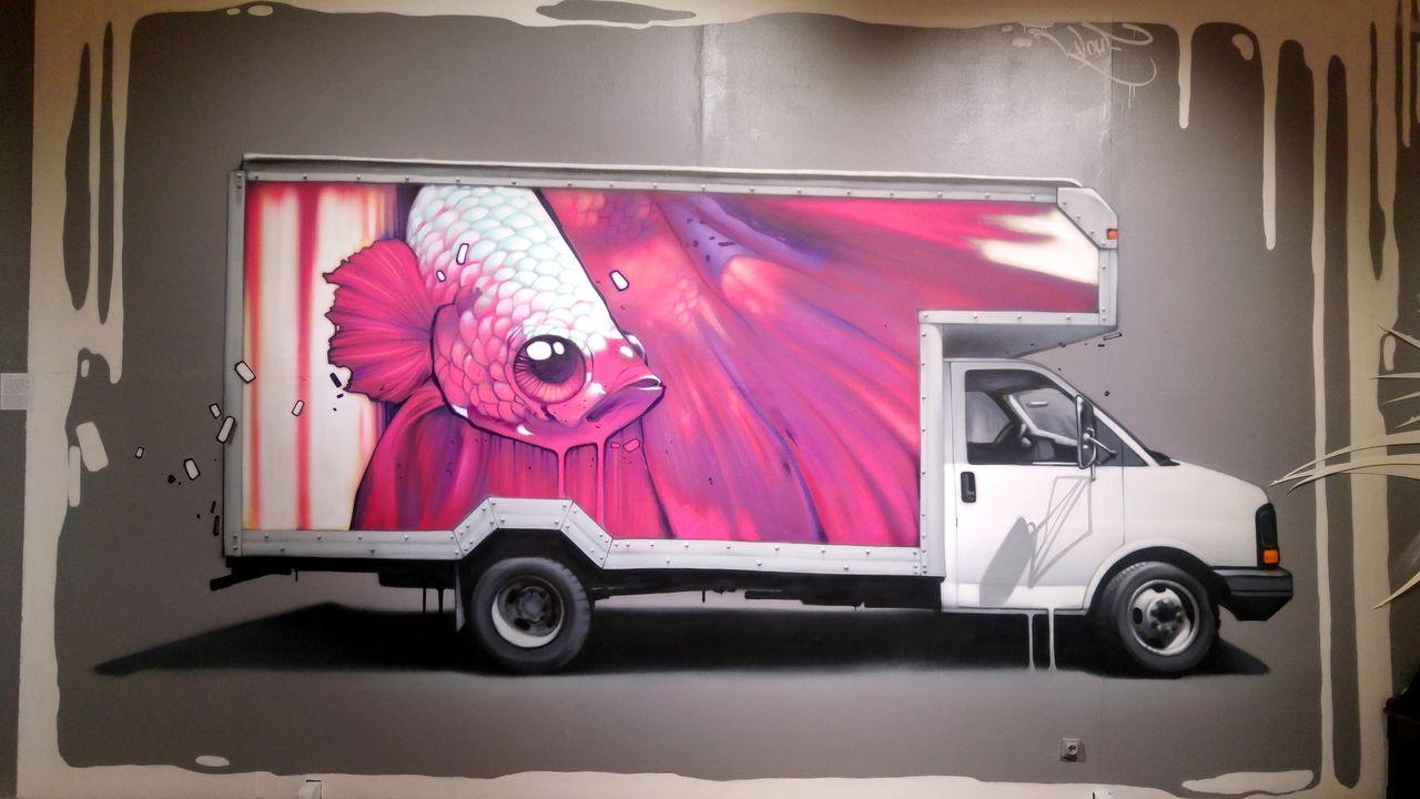 happycurio kalouf street art poisson lyon