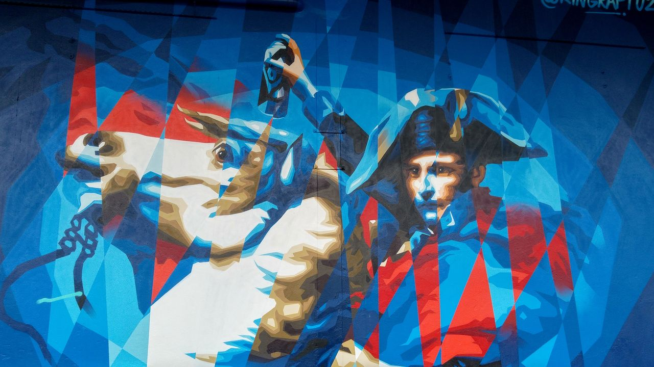 happycurio napoleon street art fresque street art king raptuz