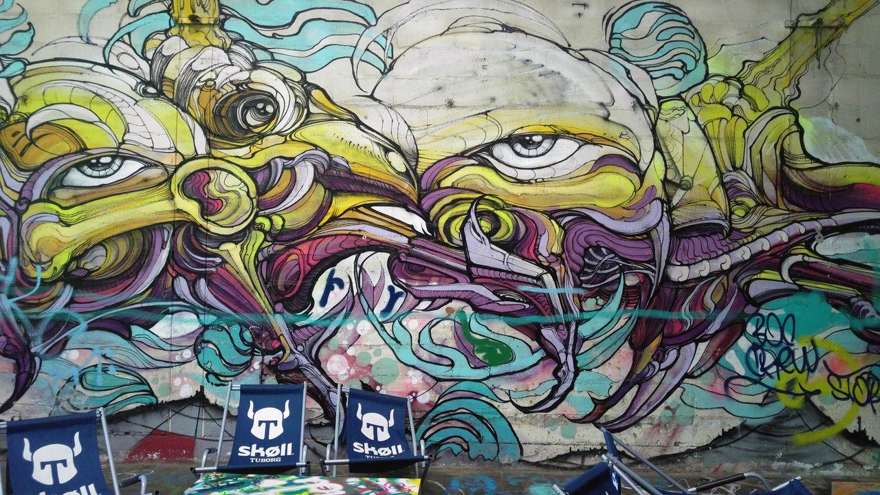 happycurio street art wall paris maquis art
