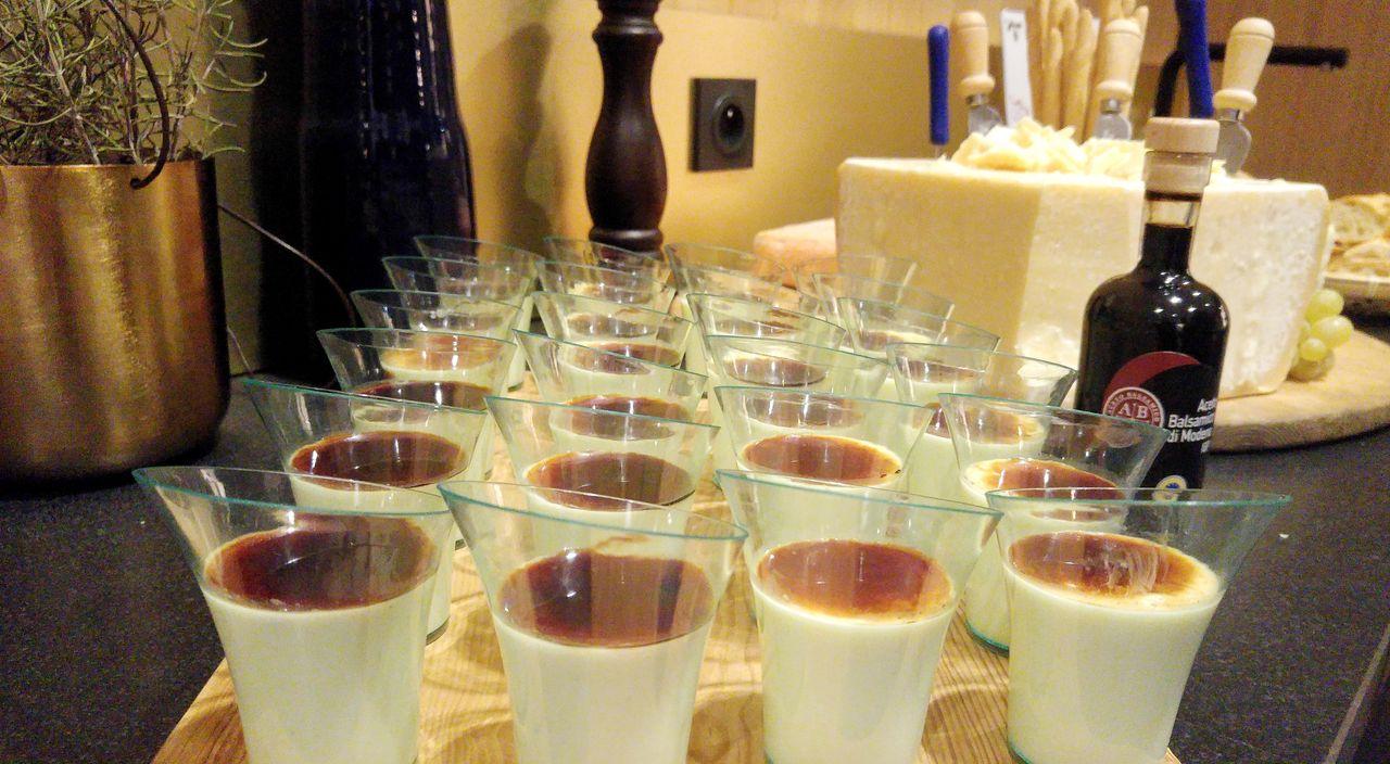 happycurio panna cotta vinaigre balsamique noel italien
