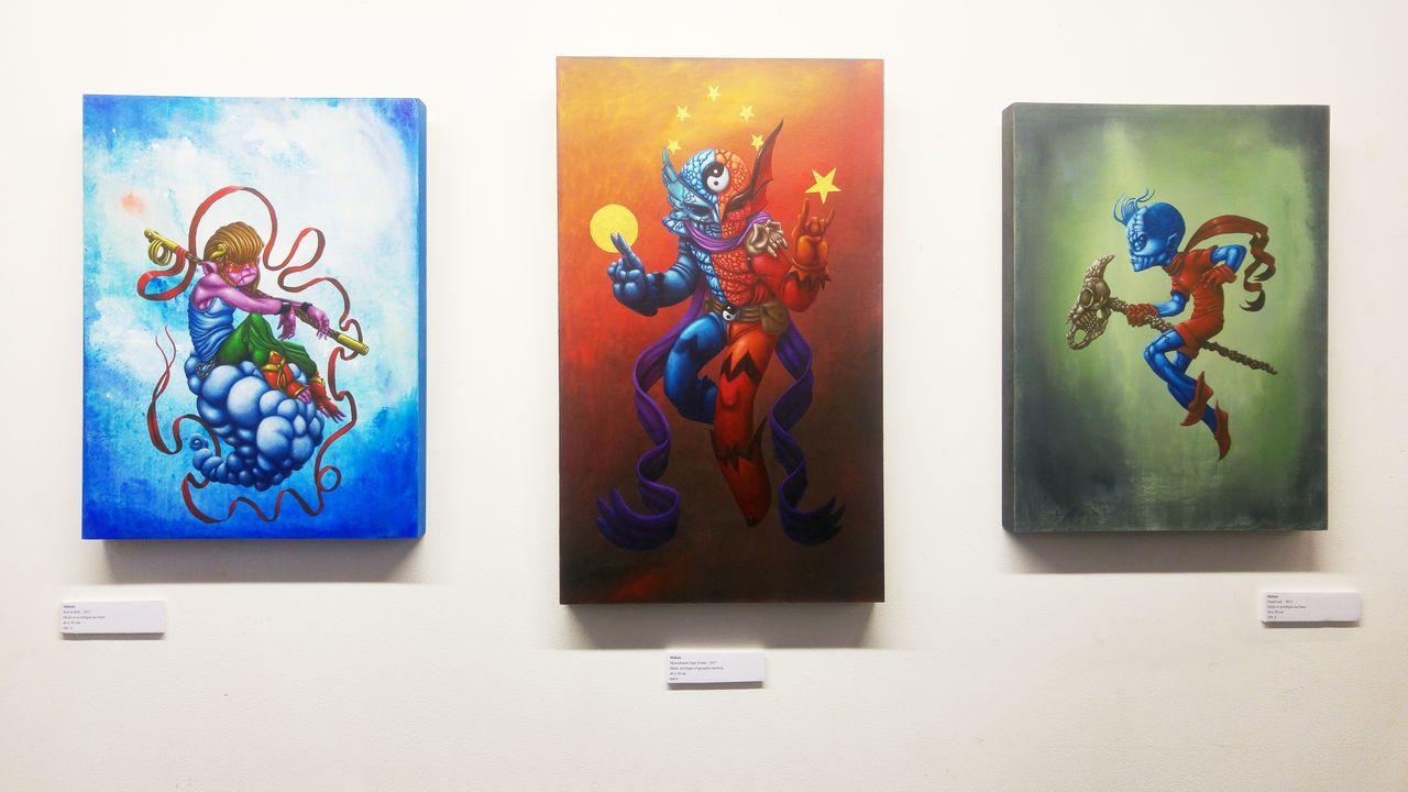 happycurio malojo peinture héros spacejunk galerie lyon