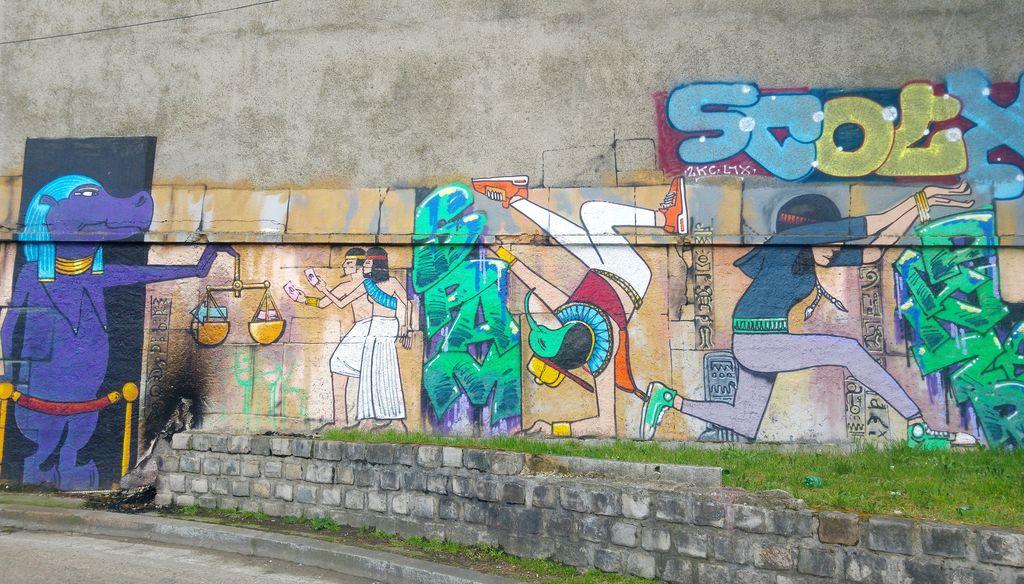 happycurio FD crew hieroglyphes street art