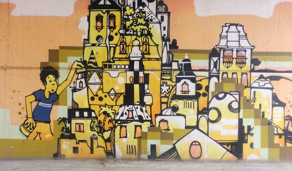 happycurio street art avenue una vida gare du quai