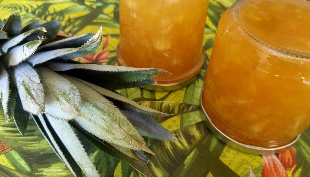 happy curio pots de confiture ananas maison