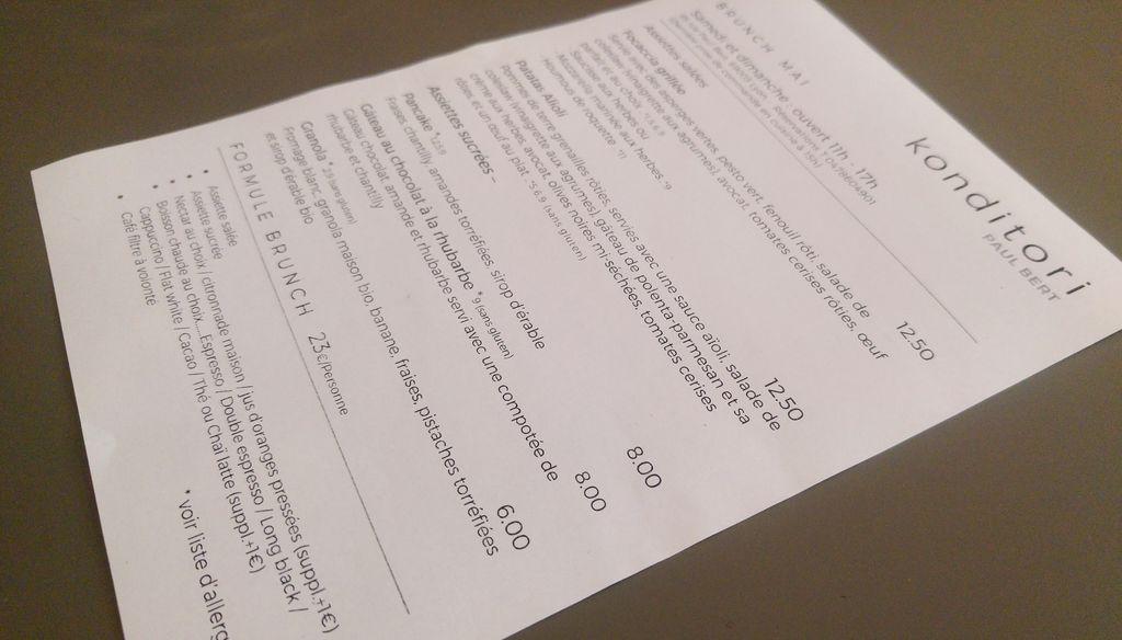 konditori lyon menu brunch samedi dimanche