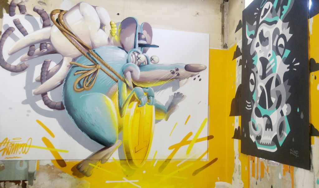 zoo art show rimp et stom 500 peinture urbaine