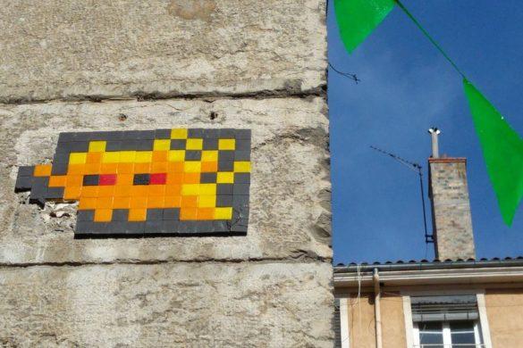 happycurio invader street art mosaique lyon rue donnée