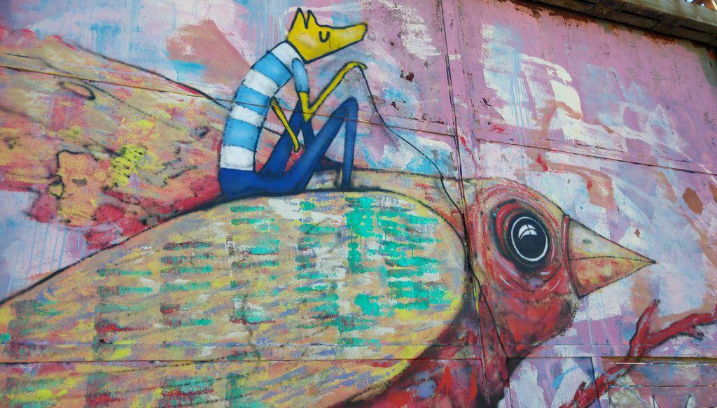 happycurio mimil selor oiseau renard bande dessinée street art bordeaux