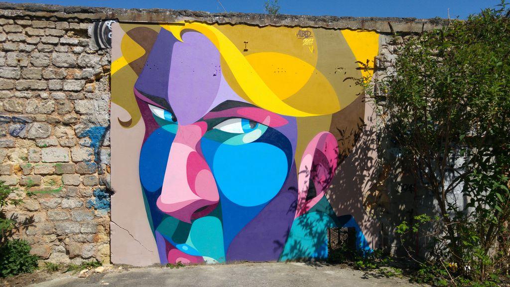happycurio street art bordeaux alber darwin caserne niel