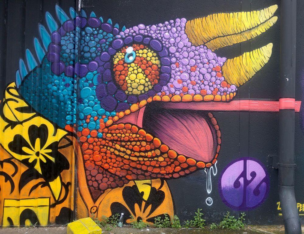 happycurio street art bordeaux cameleon rem GZ darwin